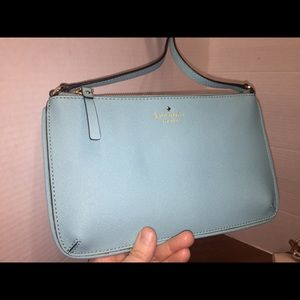 Kate Spade's Slim Turquoise Crossbody Bag